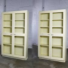 industrial metal cabinet with glass doors for display or bookcase two available