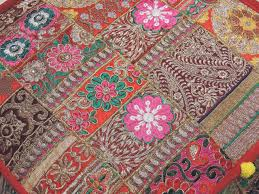 floor seating indian. Indian Ottoman - Hand Embroidered Eclectic Floor Seating Large Pouf Cover 18\