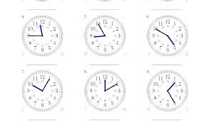 Math Worksheets Telling Time To The Quarter Hour For Kindergarten ...
