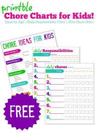 Chore Carts 10 Free Printable Chore Charts For Kids