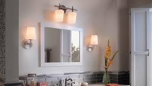 vanity lighting for bathroom. Bring Some Additional Light Into The Bathroom Or Around Vanity With Kichler Double Lights. Adorn A Smaller Mirror In Bath Powder Room Lighting For