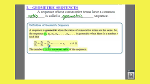 Geometric Sequence Example Advanced Algebra 2424 Geometric Sequences And Series Lessons 16