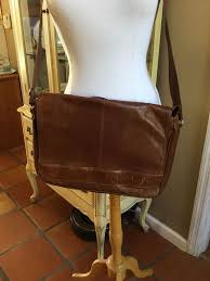 wilson leather brown briefcase messenger bag