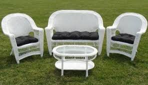 Patio Seating Patio Chairs White Wicker Furniture