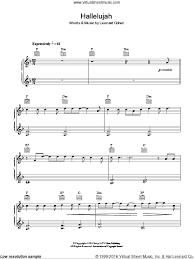 hallelujah piano sheet music burke hallelujah sheet music for piano solo