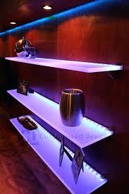 led shelf lighting led illuminated floating shelf diy led glass shelf lighting