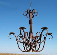 image of wrought iron candle chandeliers