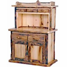 hutch kitchen furniture. Aspen Log Kitchen Hutch Mountain Woods Furniture Hutches Throughout Rustic Plan 5
