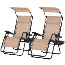 outsunny 2 piece zero gravity chair