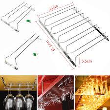 stainless steel wine glass rack hanger bar home cup glass holder