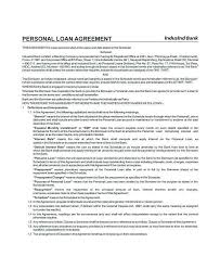 Family Loan Template Family Loan Agreement Template Free Unique Personal Contract