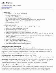 Student Resume Samples New Freshman College Student Resume