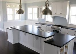 Of White Kitchens With Dark Floors White Kitchen Cabinets Dark Tile Floor Outofhome