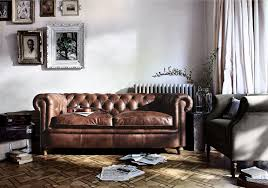 New England Living Room New England Newport 3 Seater Leather Sofa Furniture Village