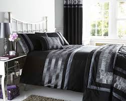 new black pintuck designed bedding matching items available king size duvet set co uk kitchen home