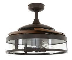 retractable blade ceiling fan fanaway classic bronze bild 2