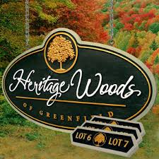 Decorative Yard Signs Hanging Signs Heritage Woods 1000000' X 1000000' 1000010000100 Thick HDU Mounted To 28