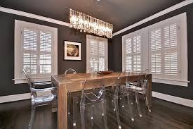 linear chandelier dining room. Linear Strand CRystal Chandelier Dining Room -