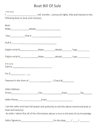 Free Printable Bill Sale Form Boat Of Sample Template Word