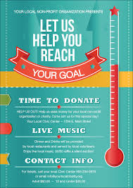 Fundraising Thermometer Postcard