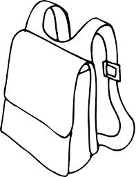 Small Picture printable outline of a backpack with straps Coloring Point
