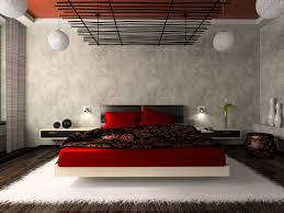 black and red bedroom. Create A Red And Black Look That Is Sleek Dramatic With High-impact Ceiling Effect Sculptural Lighting. In This Bedroom, The Designer Went An Bedroom