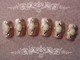 Wedding nail art. Another set of vintage-inspired cameo nails ...