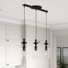 Island lighting fixtures Island Pendant Humphries 3light Kitchen Island Pendant Wayfair Kitchen Island Lighting Youll Love Wayfair
