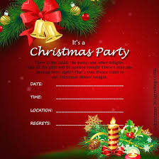Christmas Wording Samples Christmas Party Card Template Party Invitations And Party Invitation
