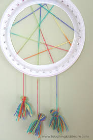 How To Make Simple Dream Catchers Simple dream catcher craft for kids Laughing Kids Learn 2