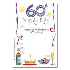 60th Birthday Party Invitation Templates Koziy Thelinebreaker Co