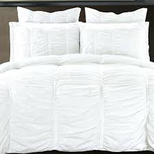 ruffled duvet cover ruffled handcrafted cotton duvet cover set hadley ruched duvet cover pottery barn white
