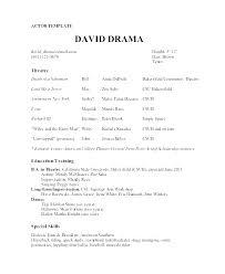 Acting Resume Beginner Beginning Acting Resume Examples For Beginners Sample Actors