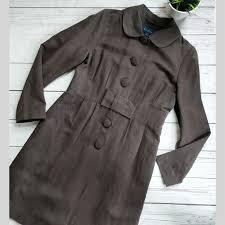 Boden Brown Silk Linen Bow Coat Uk 14 Us 10
