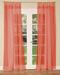 tab top voile single curtain panel