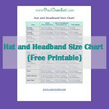 Headband Size Chart Oui Crochet Hat And Headband Size Chart Free Printable