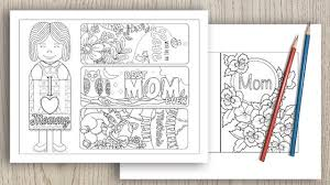 Whether you are filling out a card for grandma, an aunt, a special friend or, of course, a free printable mother's day celebrate mother's day with this fun free floral printable mother's day coloring page card. Free Printable Mother S Day Cards Crafts The Artisan Life