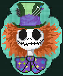 Kandi Patterns Mesmerizing MadHatterJackSkellington By Maninthebook On Kandi Patterns