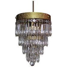 antique art deco crystal chandelier 1920 s