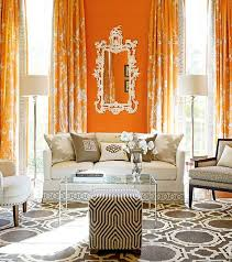 unusual design ideas curtains with orange walls decor curtains