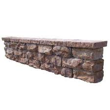 fossill brown outdoor decorative concrete seat wall