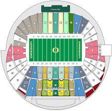Autzen Stadium Seating Chart Oregon Ducks 2017 Football Schedule