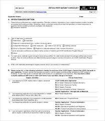 Restaurant Checklist Template - 12+ Free Word, Excel, Pdf Documents ...