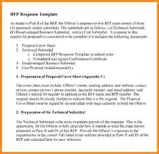9 Response Template Sample Rfp Example – Peero Idea