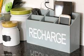 diy charging station a great tutorial to keep all your devices d and organized