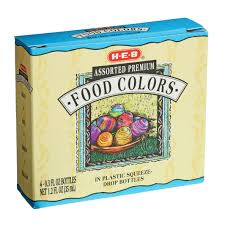 Food coloring is used both in commercial food production and in natural colors are not required to be tested by a number of regulatory bodies throughout the world, including the united states fda. H E B Assorted Premium Food Colors Shop Food Color At H E B