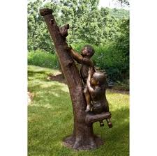 children garden statues. Children To The Rescue Bronze Garden Statue Statues T