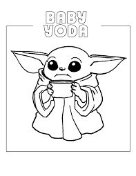 We use cookies to ensure that we give you the best experience on our website. Baby Yoda Coloring Pages Coloring Rocks