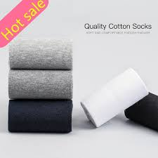 Socks Black <b>Cotton</b> Business Breathable Autumn Men's Socks 10 ...