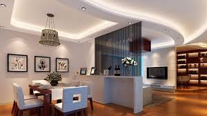 gypsum board false ceiling with indirect ceiling lighting
